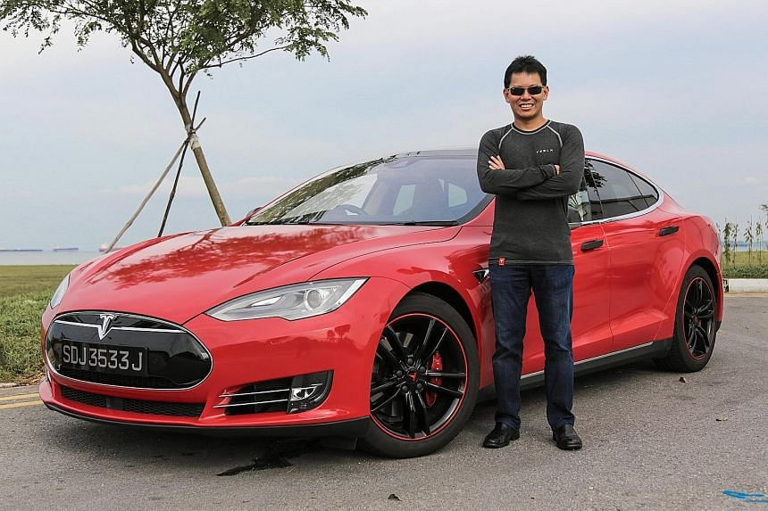 Mr Adrian Peh bought a used Tesla Model S in Hong Kong and imported it to Singapore.