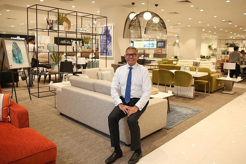 The interiors of Harvey Norman stores are carefully curated to offer a pleasant shopping experience, says Mr Kenneth Aruldoss, the company's managing director for Asia.