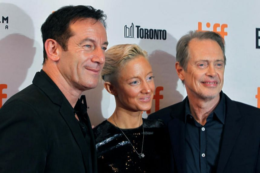 Actors Jason Isaacs, Andrea Riseborough and Steve Buscemi attend the premiere of the film The Death of Stalin at Toronto International Film Festival in Toronto, on Sept 8, 2017.