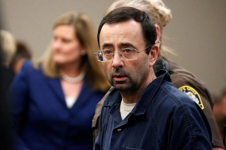 Larry Nassar, a former team USA Gymnastics doctor who pleaded guilty in November 2017 to sexual assault charges, stands in the courtroom during his sentencing hearing in Lansing, Michigan, US on Jan 18, 2018.