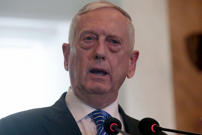 US Defense Secretary Jim Mattis said military options were meant to ensure diplomats spoke from a position of strength.
