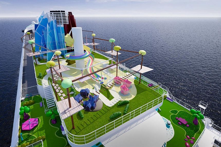 An artist's impression of Cartoon Network Wave's Rope Adventure Park.