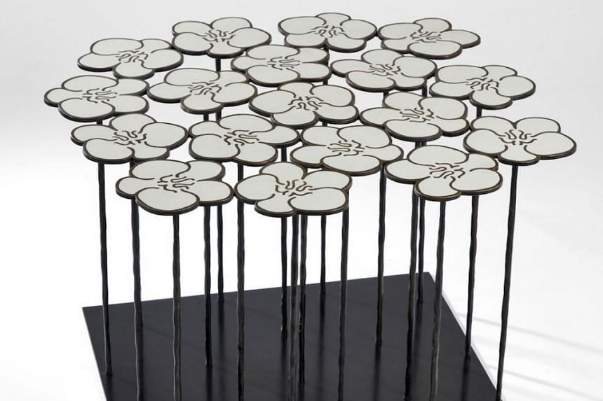 Orchid 18 Flowers side table by French artist-designer Hubert Le Gall.