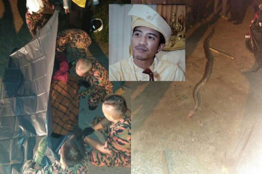Mr Zaim Khalis Kosnan was killed by a python after he tried to capture it.