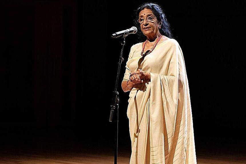 Dr Uma Rajan performing in Walking In Beauty.