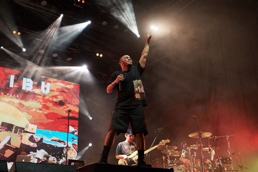 Anderson Paak (above) and his band The Free Nationals performed at the St Jerome's Laneway Festival last Saturday.