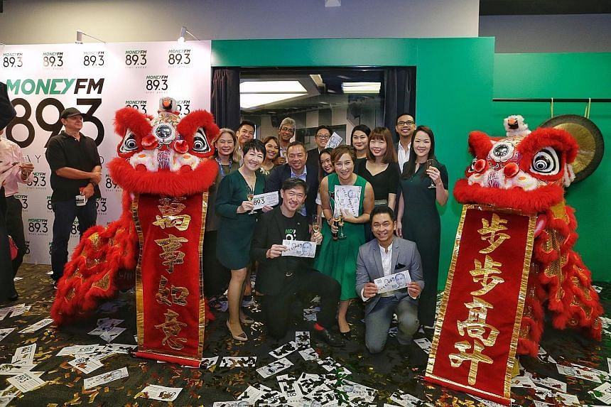 At the launch are (first row from left) presenter Audrey Ying; SPH deputy CEO Anthony Tan; music director and senior producer-presenter Claressa Monteiro; and presenter Desmond Wong; (second row from left) assistant programme director Loretta Lopez;