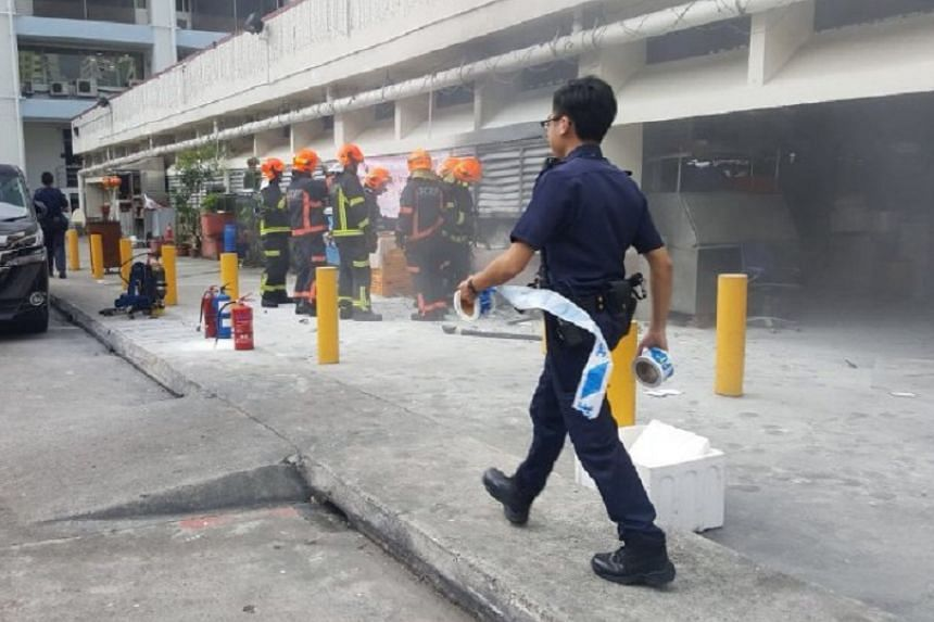 The fire broke out at 84 Marine Parade Central at around 4.15pm.