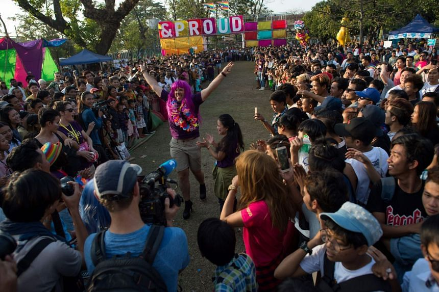 """The """"&Proud"""" festival in Yangon featured games, races and music."""