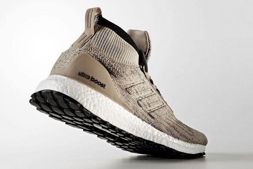 The Adidas Ultraboost All Terrain has a water-repellent coating.