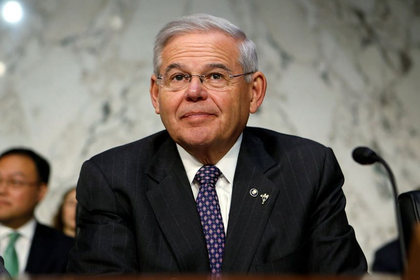 Menendez waits to question Jerome Powell on his nomination to become Federal Reserve chairman in November 2017.