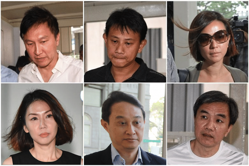 The Court of Appeal handed down its final verdict on the City Harvest Church case, involving (clockwise, from top left) Kong Hee, Tan Ye Peng, Serina Wee, John Lam, Chew Eng Han and Sharon Tan, on Feb 1, 2018.