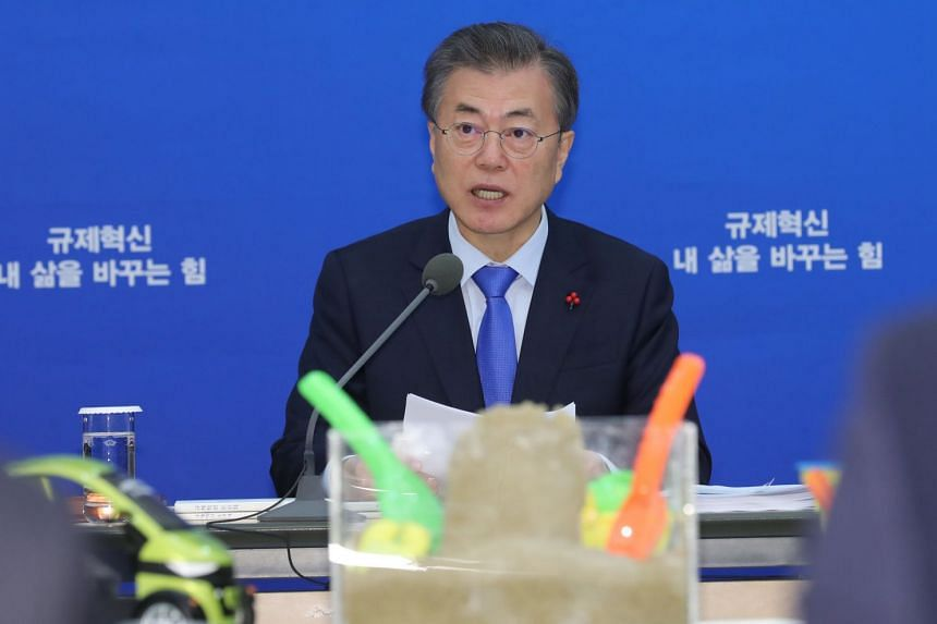 """President Moon Jae In's administration has set the goal of creating jobs and giving more people a shot at a """"decent life""""."""