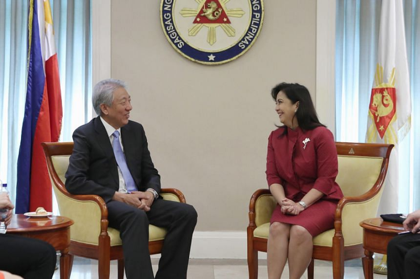 Deputy Prime Minister Teo Chee Hean and Philippine Vice-President Leni Robredo reaffirmed the warm and longstanding ties between Singapore and the Philippines.