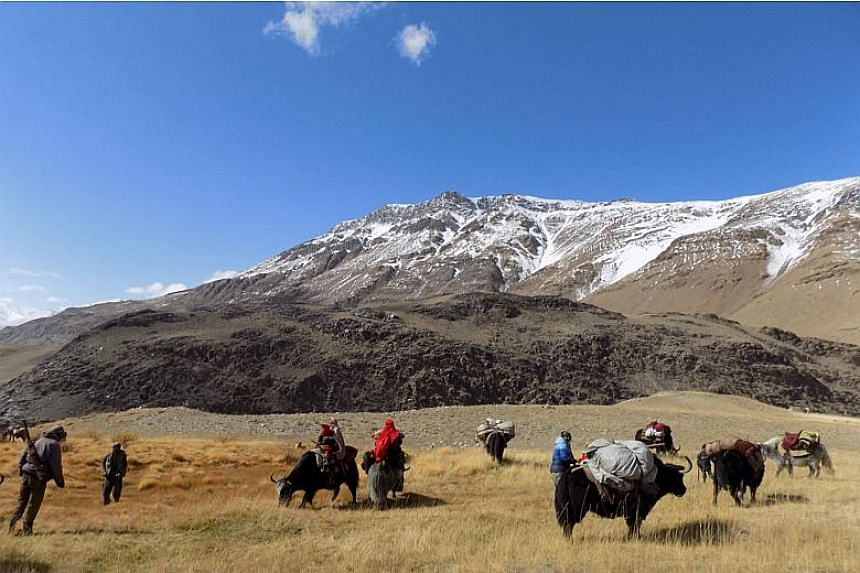 The army camp will be built in Afghanistan's remote and mountainous Wakhan Corridor (above), where witnesses have reported seeing Chinese and Afghan troops on joint patrols.