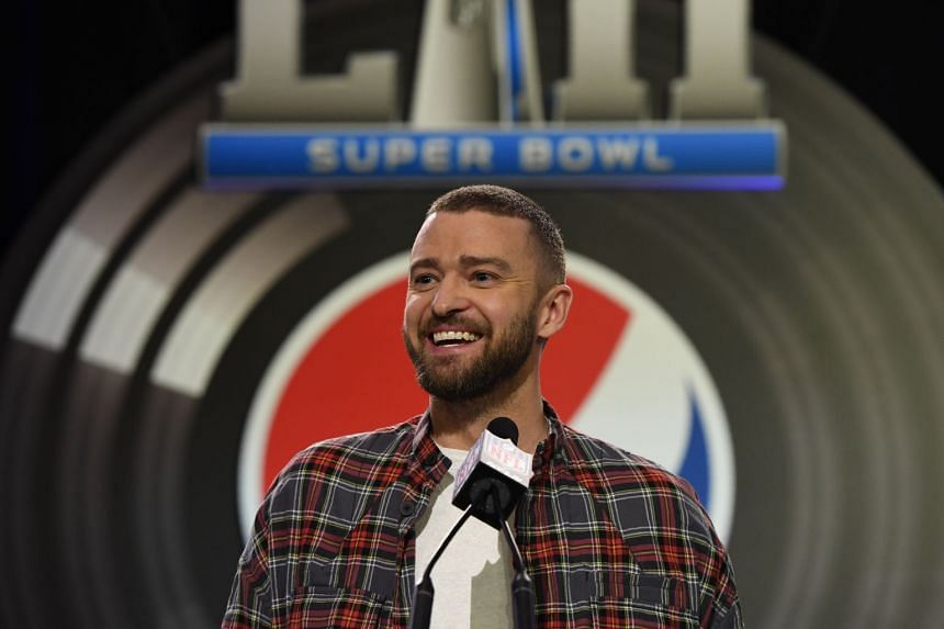 Justin Timberlake speaks during the Pepsi Super Bowl LII Halftime Show press conference in Minneapolis, Minnesota, on Feb 1, 2018.
