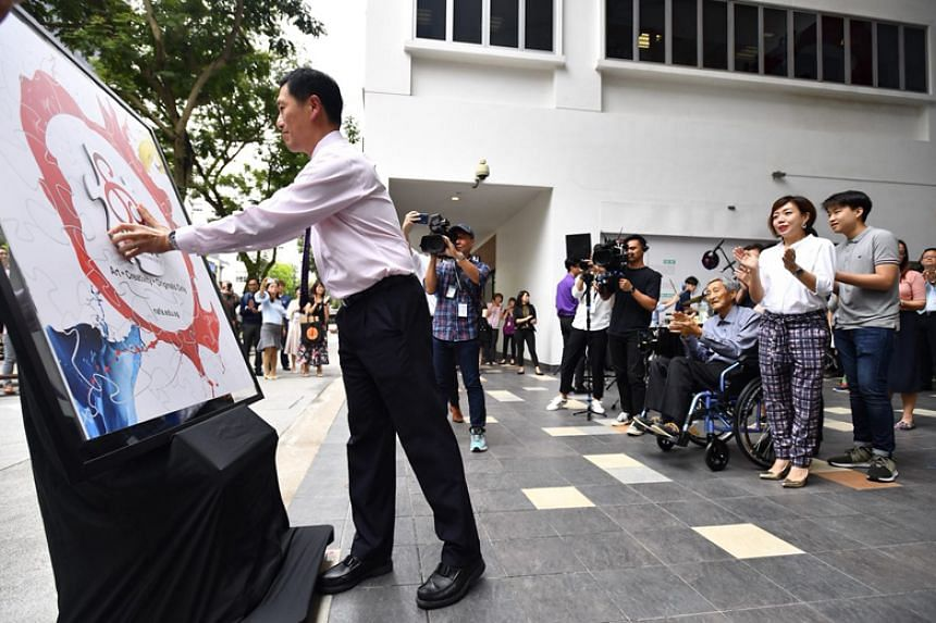 Minister for Education (Higher Education and Skills) Ong Ye Kung officially opening the Nanyang Academy of Fine Arts' Campus 1 Tower Block during the school's 80th anniversary celebrations.