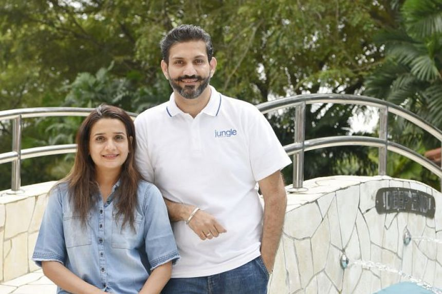 Mr Amit Anand, co-founder of venture capital firm Jungle Ventures, with his wife Prajakta Anand. As a venture capitalist, Mr Anand says he is particularly interested in digital start-ups that have the potential to become regional or global category l