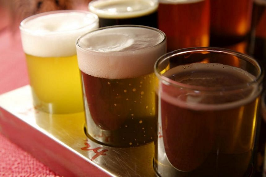 Craft beer, such as these offerings from a microbrewery in Beijing, is gaining popularity in China.
