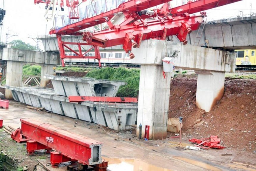 The incident happened at the construction site of a quadruple track railway project in Matraman, East Jakarta on Feb 4, 2018.