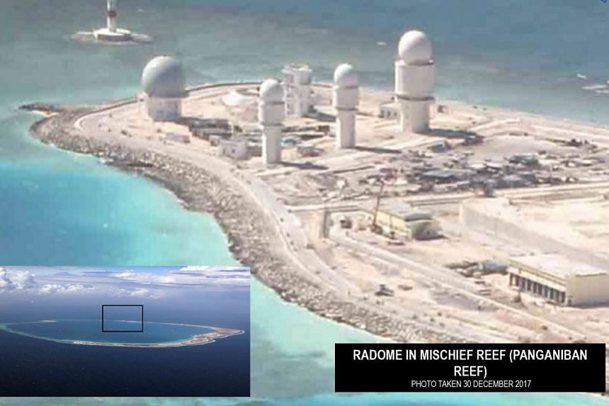Most of the photos, taken between June and December 2017, showed the reefs that had been transformed into artificial islands in the final stages of development as air and naval bases.