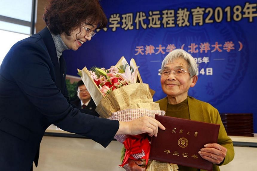 Studying at Tianjin University has been Xue Minxiu's life's ambition, but it was not realised until she reached her senior years.