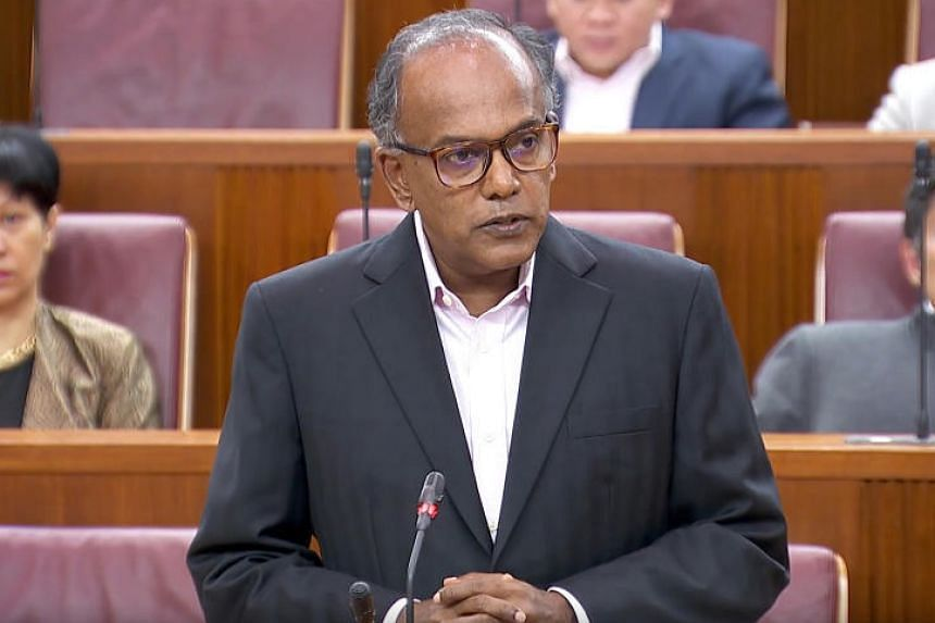 """Over the years, Home Affairs and Law Minister K. Shanmugam said he had acted for people """"whose conduct will not be approved of by the general public""""."""