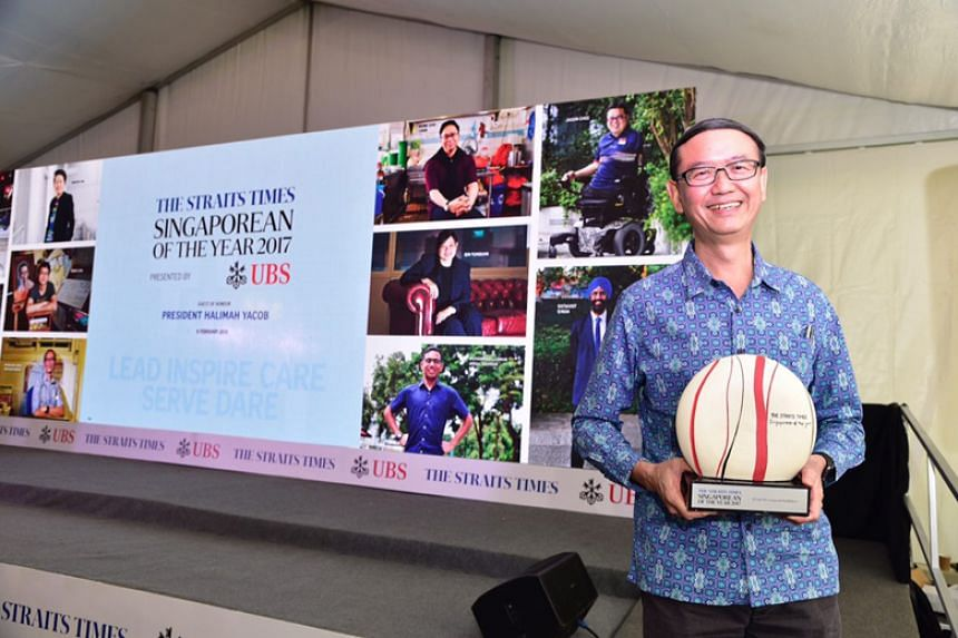 Dr Goh Wei Leong and HealthServe, which provides migrant workers with affordable healthcare, beat nine other finalists to the award.