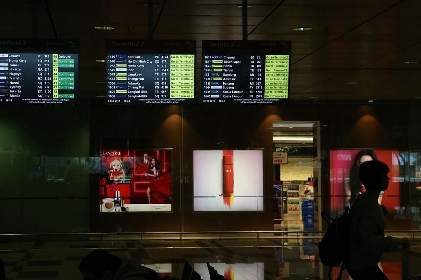 Passengers at Changi Airport Terminal 3 were told to board their plane at Terminal 2.