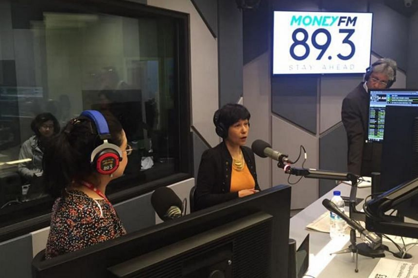 Senior Minister of State for Law and Finance Indranee Rajah at a live radio interview on Money FM89.3, Singapore's first and only business radio station.
