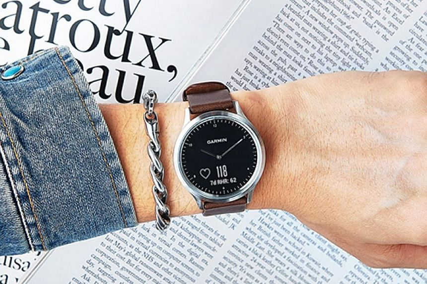 The Garmin Vivomove HR fitness tracker looks like a conventional timepiece at first glance.