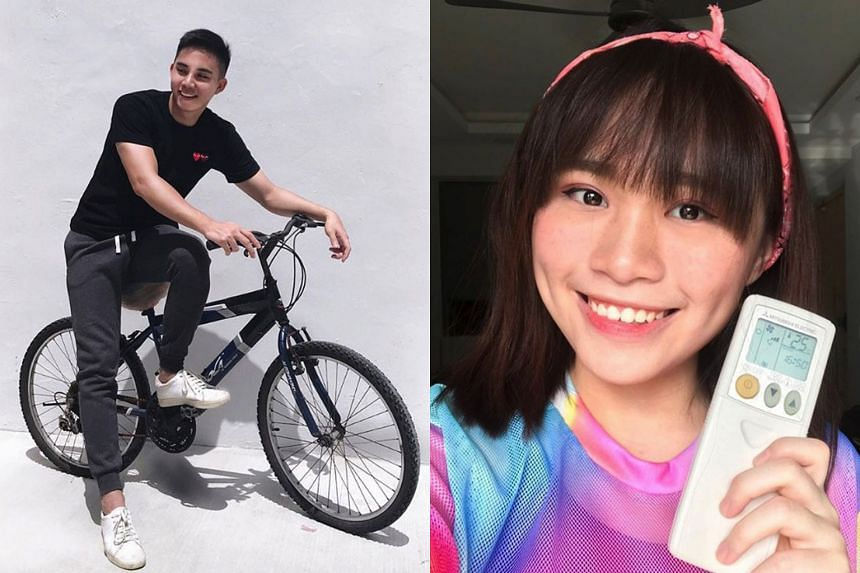 Social media micro-influencers Marcus Nai (@marcusnai) and Melissa (@tacomels) raising awareness on climate change on their respective Instagram profiles.