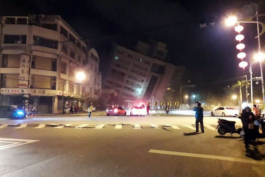 Pictures posted on social media showed damage to buildings in Hualien county, where people fled in panic after buildings buckled under the shock of the quake late last night.