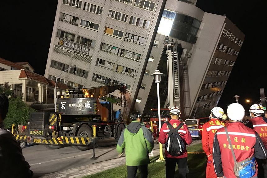 The Hualien local fire service said 147 of the 213 residents from the building remained unaccounted for.