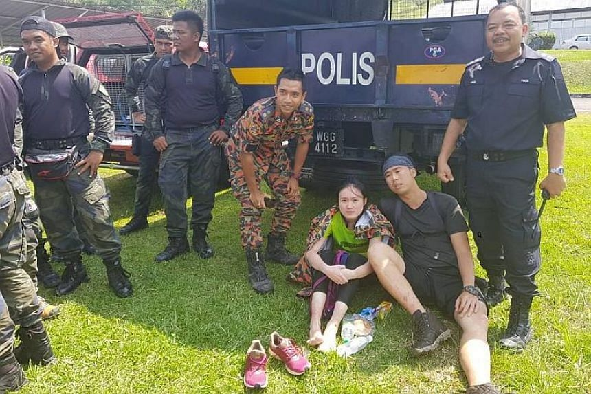 The two Singaporean hikers who went missing on a Johor mountain were successfully located and rescued by a Malaysian search and rescue team on Feb 8, 2018.
