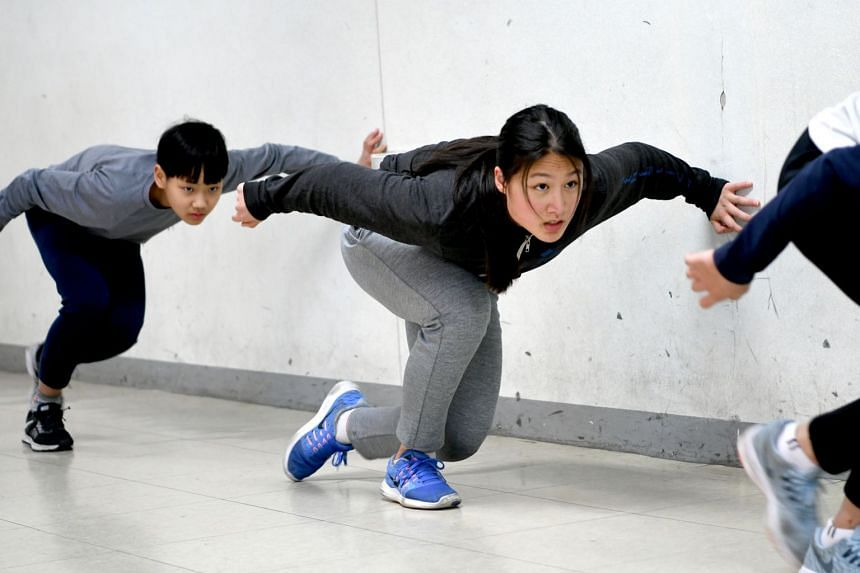 Short track speed skater Cheyenne Goh trains at the Goyang Eoullimnuri Ice Rink in preparation for her 1,500m race on on Feb 17, 2018, at the Pyeongchang Winter Olympic Games.