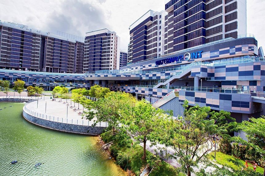 Waterway Point was jointly developed with Far East Organization and Sekisui House.