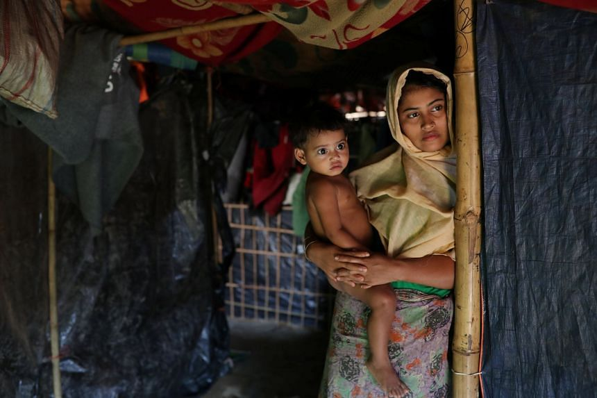 Rehana Khatun's husband Mohammed Nur was among the 10 Rohingya men killed by Myanmar security forces and Buddhist villagers on Sept 2, 2017.