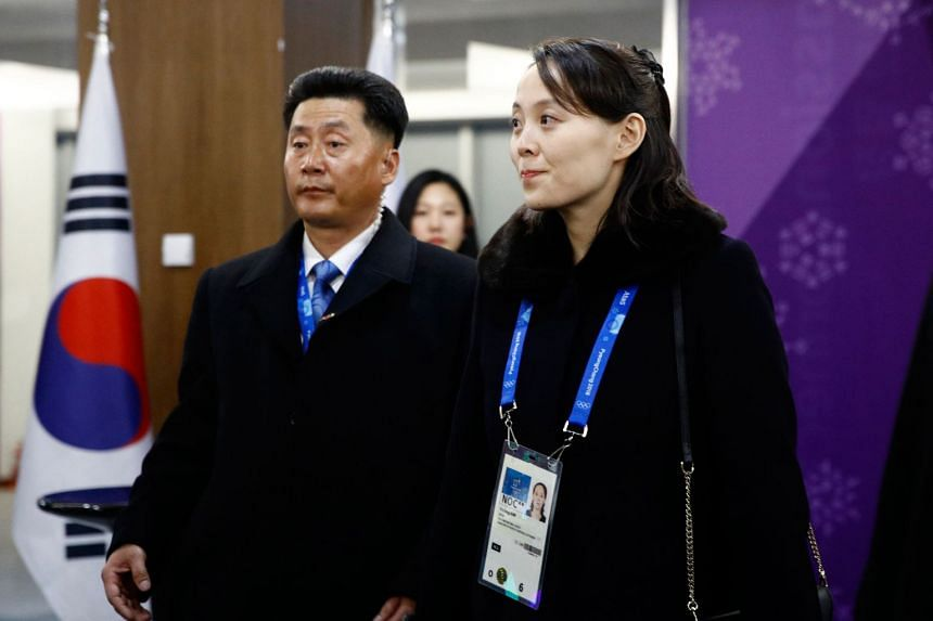 Kim Yo Jong arrives for the opening ceremony of the Pyeongchang 2018 Winter Olympic Games at the Pyeongchang Stadium on Feb 9, 2018.