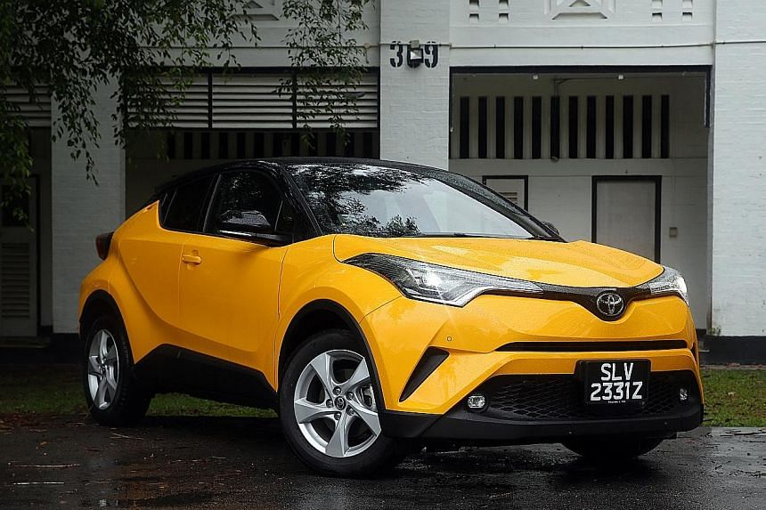 The Toyota C-HR has quick and sharp steering, fine roadholding and a compact body.