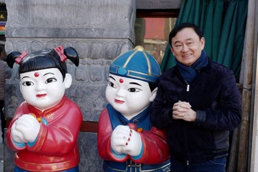 Former Thai PM Thaksin Shinawatra wishing followers a good Chinese New Year in a photo that was posted on his daughter's Instagram on Feb 10, 2018.