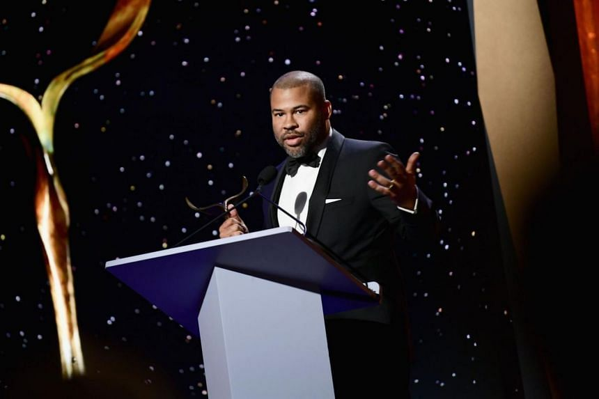 Writer-director Jordan Peele picked up the trophy for best original screenplay for Get Out, a dark satire of the African-American experience and liberal white guilt.