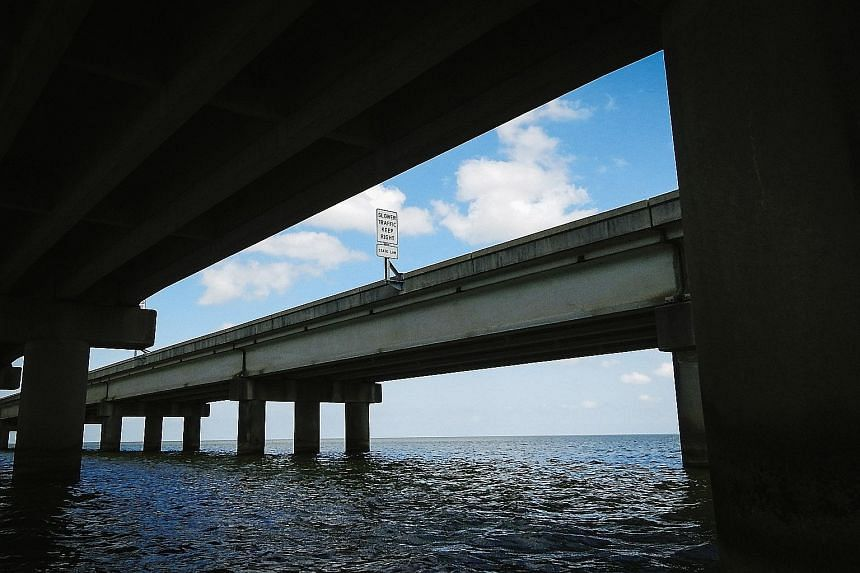Louisiana's Lake Pontchartrain Causeway. The Trump infrastructure blueprint is likely to call for expensive new roads, bridges, airports and other projects in areas that are increasingly vulnerable to rising waters and other threats from a warming pl