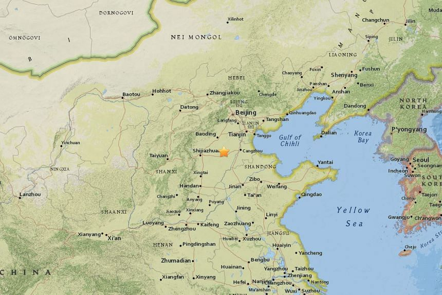 A 4.3-magnitude earthquake struck Langfang city, in Hebei province, on Feb 12, 2018.