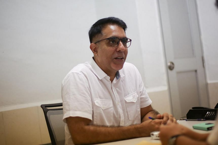 Workers' Party MP Pritam Singh speaking with journalists at a meet-the-people session at Jalan Damai on Feb 12, 2018.