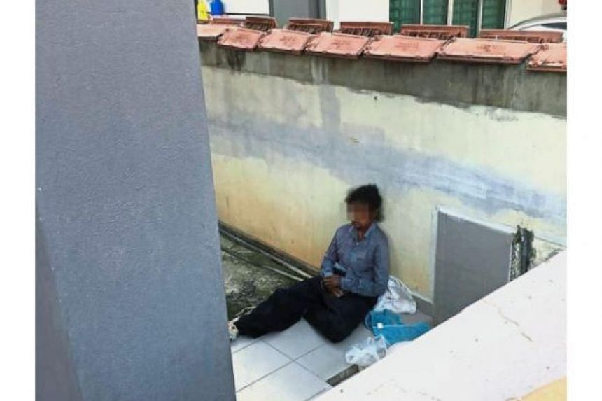 Neighbours claimed the woman from Medan, Indonesia, had been forced to sleep with the Rottweiler on the porch for over a month.
