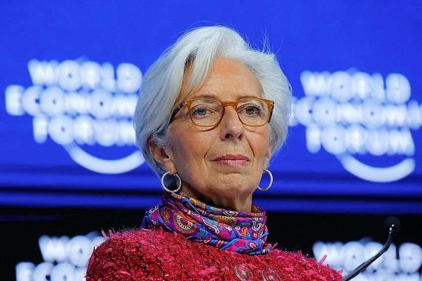 IMF managing director Christine Lagarde said economies were also supported by plenty of financing available.