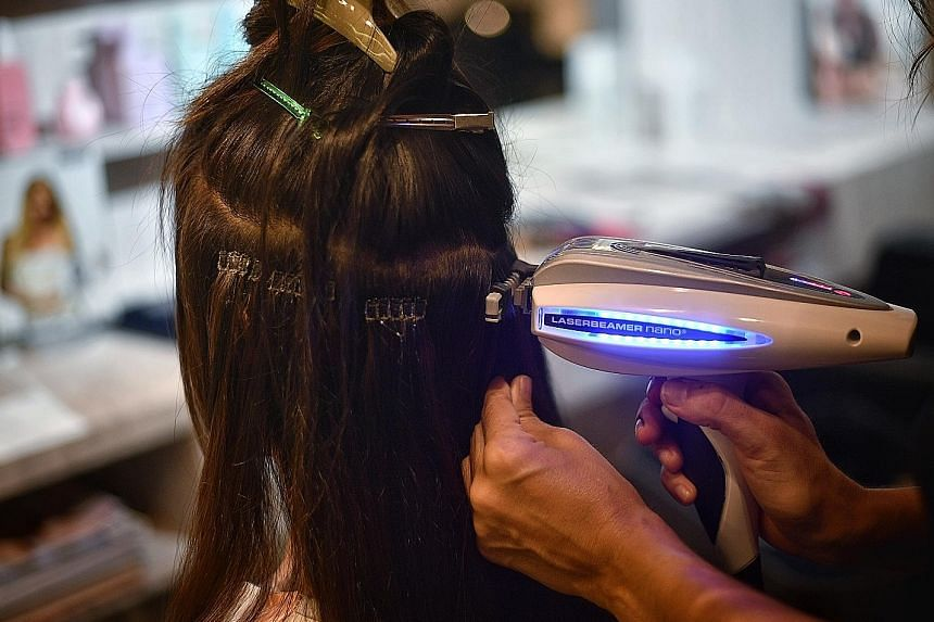 The weight of hair extensions can put the scalp and existing hair follicles under constant tension.