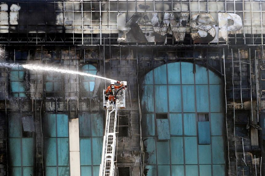 The Selangor Fire Department's operations commander said almost 40 per cent of the building was destroyed by the fire.