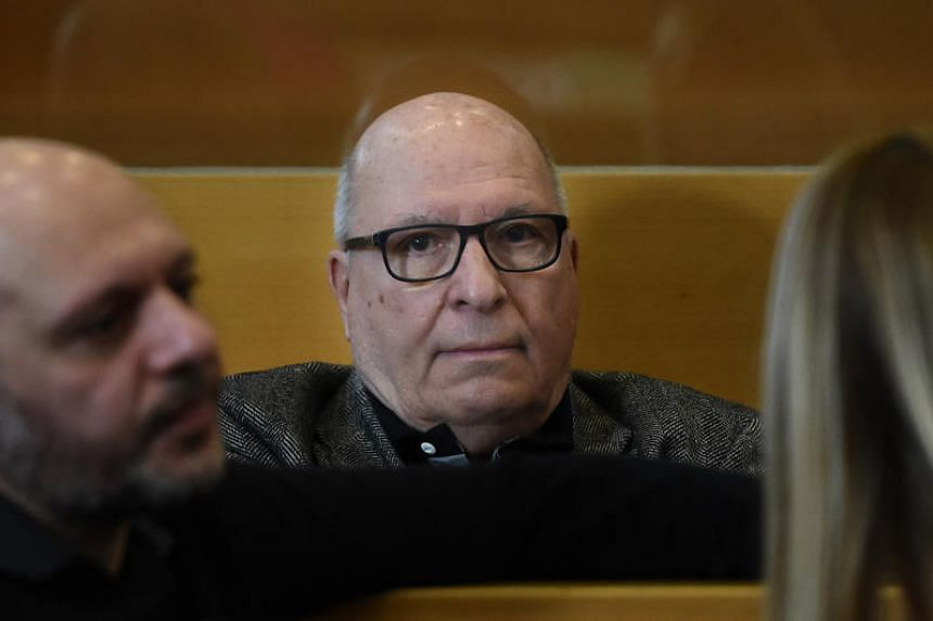 Jacques Cassandri, alleged 'brain' in the case of the 1976 spectacular burglary of the Societe Generale bank of Nice, waits at Marseille courthouse on Feb 12, 2018, prior to the opening of his trial.